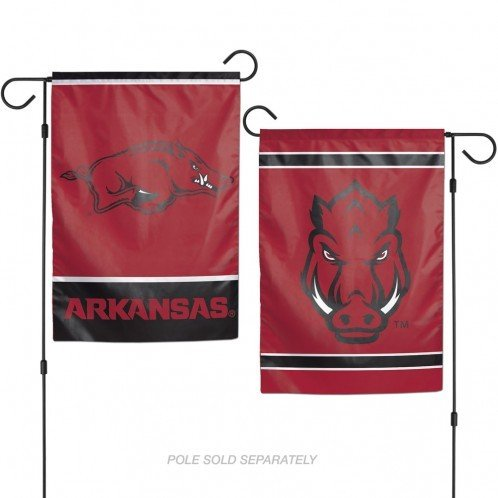 Banner Ncaa Arkansas Razorbacks - WinCraft NCAA University of Arkansas 12x18 Inch 2-Sided Outdoor Garden Flag Banner
