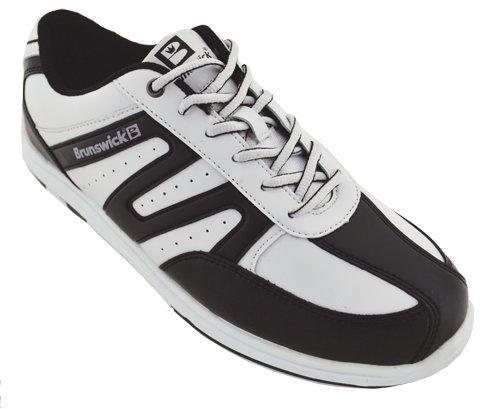 Brunswick Mens Mariner Chaussures De Bowling Blanc / Noir