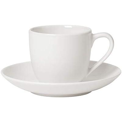 Villeroy und Boch Espressotassen 2er Set, 4 tlg., - For Me - Premium Porzellan, weiß