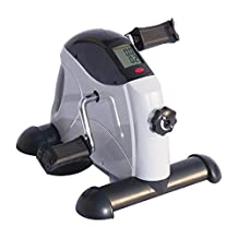 Soozier Portable Mini Pedal Exercise Bike Indoor Cycle Fitness Hand Foot w/ LCD Display