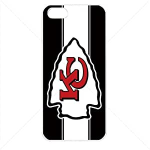 NFL American football Kansas City Chiefs Fans Apple iPhone 5 5S TPU Soft Black or White case (White)