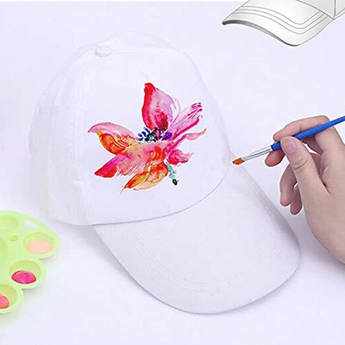 CHENLIGHT Gorra de béisbol Pintada a Mano para niños, Color Blanco ...