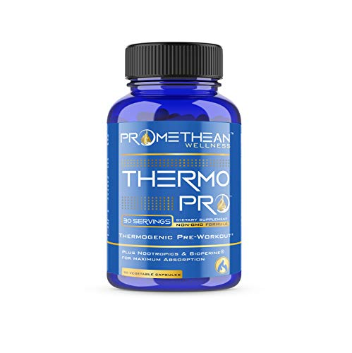 Thermo PRO Best Thermogenic Pre Workout Fat Burners for Men & Women Lose Weight Loss Fast Belly Fat Burner Pills Garcinia Cambogia CLA Green Tea Green Coffee Bean Extract Forskolin L-Theanine