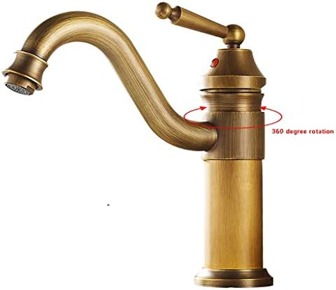 蛇口ノスタルジックキッチンホットコールド素朴な水のデッキはハンドル360°調整可能でブロンズでハンドウォッシュ流域ミキサータップミキサータップシンクをマウント (Size : 23cm)