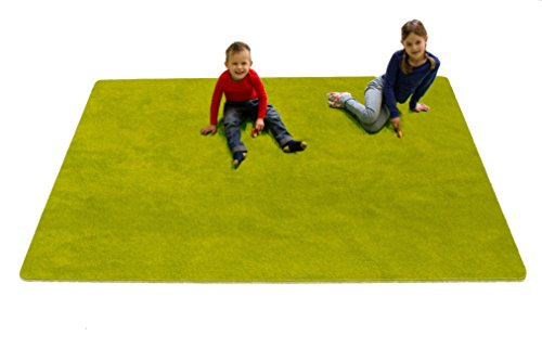 Learning Carpets CPR467 - Solid Green Rectangle
