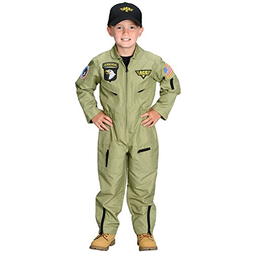 Jr. Armed Forces Pilot Suit with Helmet, Size 8/10 -