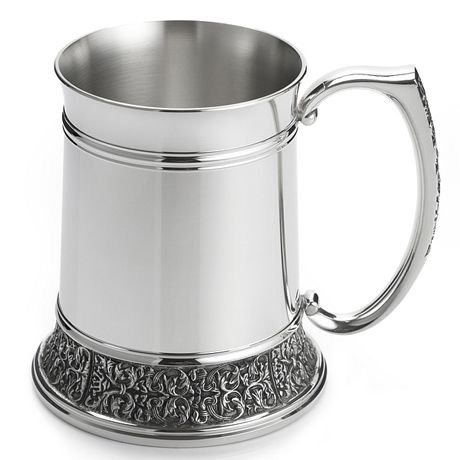Royal Selangor Hand Finished Classic Expressions Collection Pewter Tankard (L) with Brilliant Finish (Brilliant Pewter Finish)