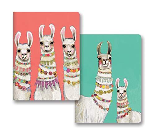 Studio Oh! Notebook Duo of 2 Coordinating Designs Available in 8 Bundles, Eli Halpin BoHo Llamas