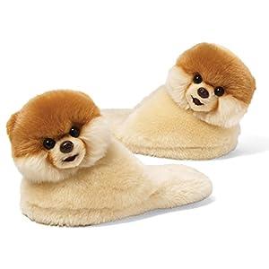 "Gund Boo The World's Cutest Dog Child Sized Slippers 9"" Plush, One Size by Gund"