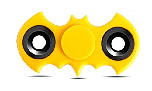 Batman Hand Spinner Fidget Toy, High Speed Spinner Fidget 2 Sided Spinner Toy, Batman Fidget Spinner, Stress Reducer Relieves ADHD, EDC Focus Toy (Yellow)