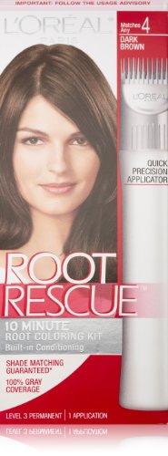L'Oréal Paris Root Rescue Couleur des cheveux, 4 Dark Brown
