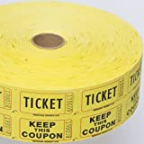 Yellow Double Raffle Ticket Roll (2000 tickets roll)