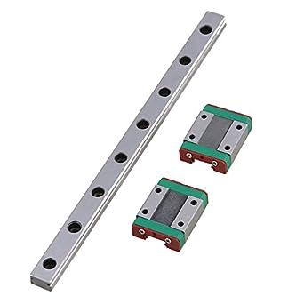 MGN12 200 mm guía lineal de riel con 2 bloques de transporte para ...