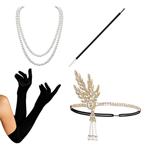 1920s Accessories set Flapper Costume-HAMIST(2017 New Design) For Women (New Ladies Halloween Costumes 2017)