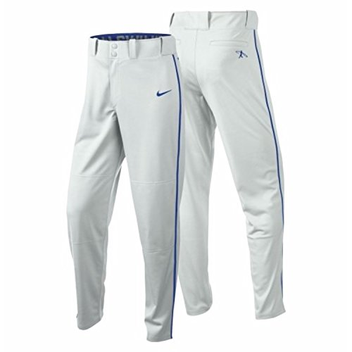 Nike Men's Swingman Dri-FIT Piped Baseball Pants (White/Royal, Small) by Nike
