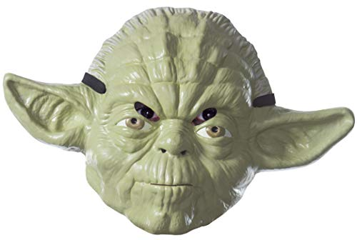 Rubie's Costume Unisex-Adult's Standard Star Wars Classic Yoda Mask, as Shown, One Size ()