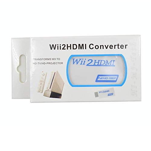 Dragonpad Wii to HDMI Converter Output Video Audio Adapter - Supports All Wii Display Modes to 720P / 1080P HDTV & (720p Display)