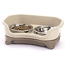 Neater Feeder Express (Cat) - With Stainless Steel, Drip Proof, No Tip and Non Slip Cat Bowls and Mess Proof Pet Feeder