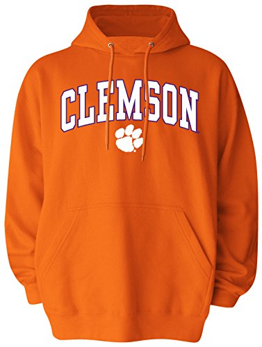 NCAA Clemson Tigers Pullover Hood, Medium, Orange (Tigers Sweatshirt Clemson Orange)