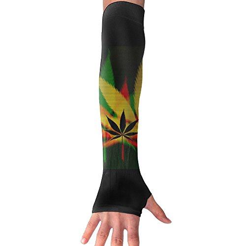 Deviantart Weed Arm Sleeves Unisex Sun Block Protection  1 Pair