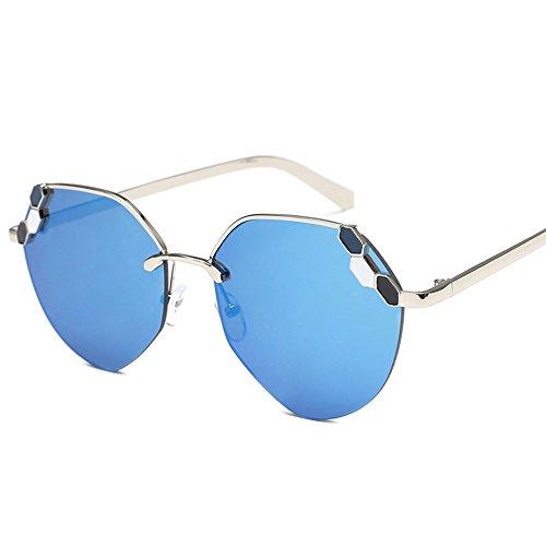 Bleu étui soleil de Aviator Hommes LVZAIXI de soleil Générique femmes lunettes Couleur Vintage à conduisant lunettes avec Blanc polarisées PqRUwg