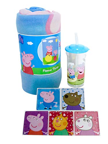 Little Boogers Peppa Pig Bedtime Gift Set - Blanket, 100% BPA Free Tumbler and - Pigs Gift Set