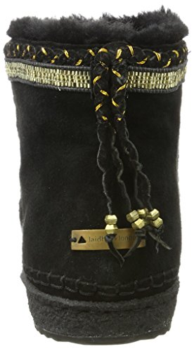 Laidback 001 Nyali London Black Bottines Gold Femme Noir qPHAxqwBr