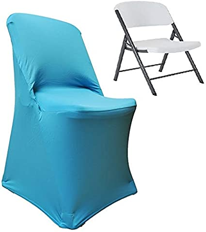 Incredible Wedding Linens Inc 2 Pcs Lifetime Spandex Stretch Fitted Folding Chair Covers Wedding Party Decoration Chair Cover Turquoise Bralicious Painted Fabric Chair Ideas Braliciousco