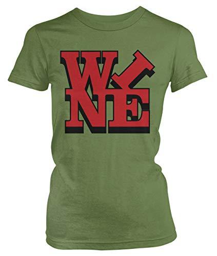(Amdesco Junior's Wine T-Shirt, Moss Green XL)