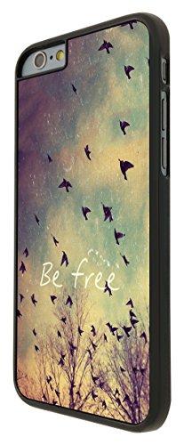 555 - Cool Be Free Birds Sky and Clouds Cute Natural Look Design iphone 6 Plus / iphone 6 Plus 5.5'' Coque Fashion Trend Case Coque Protection Cover plastique et métal - Noir