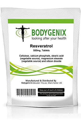 Brand New Pack Of Resveratrol 500mg Tablets Made In Uk Several