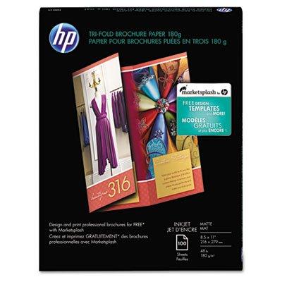 (Tri-Fold Brochure Paper,Matte,8-1/2 quot;x11 quot;,48Lb,100 Sheets,WE)