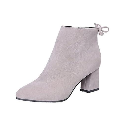 good WIKAI Bottes pour femmes Fashion Boots talon bloc Zip