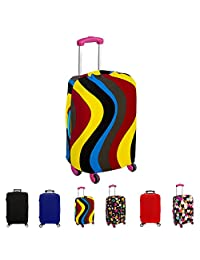 """FanaticalPurchase Travel Luggage Protector Suitcase Cover Fits 18-30 Inch (Wave, 26""""-30"""")"""