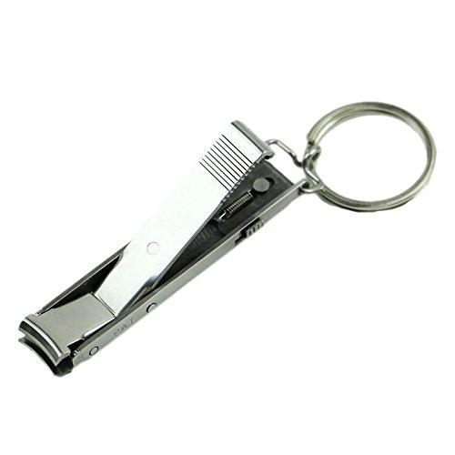 Cortauñas plegable Calistouk, herramienta de uñas para manicura con llavero fácil de llevar