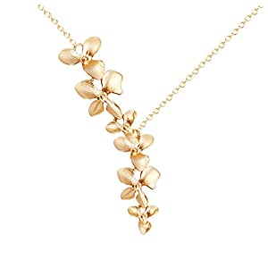 Ann Tarry Gold Plated Orchid Flower Necklace or Bracelet + Beautiful Gift Box