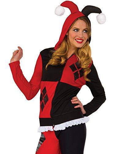 Rubie's Costume Co Women's Hoodie, Harley Quinn, Medium/Large
