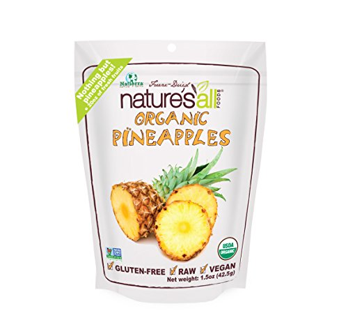 Natierra, Nature's All Foods Freeze-Dried Pineapples, 1.5 Ounce
