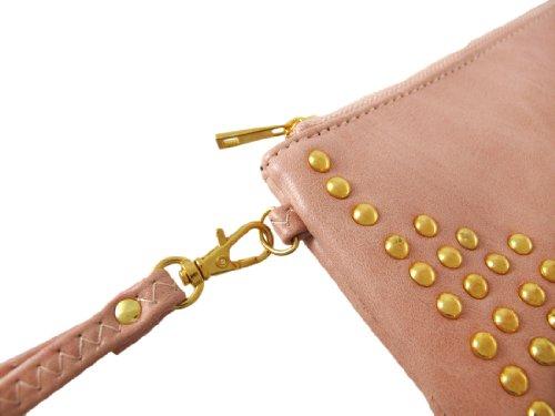 Things2Die4 - Cartera de mano con asa para mujer rosa