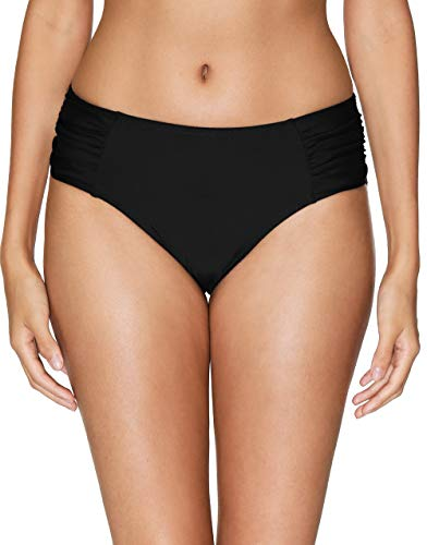 Bathing Suits Hipster - V FOR CITY Women's Black Bikini Bottoms Full Coverage Swimsuit Mid Rise Swimwear Bottom XL