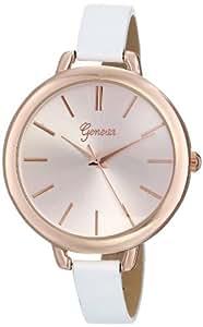 Geneva Women's 8179F-GEN Analog White Dress Watch