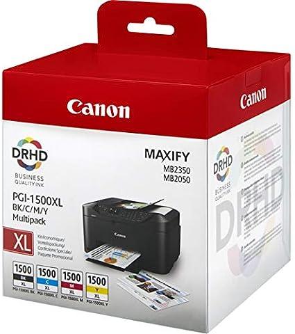 Canon Pgi 1500 Xl Multipack Druckertinten Bk C M Y Mit Hoher Reichweite Bürobedarf Schreibwaren