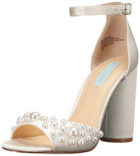 Blue by Betsey Johnson Women's SB-Cara Dress Sandal, Ivory, 6 M US by Betsey Johnson