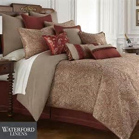 Waterford Mirasol Cavanaugh Queen Comforter Set In PLATINUM