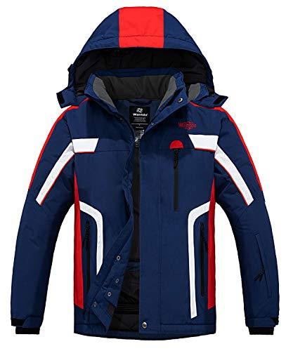 Wantdo Men's Mountain Waterproof Ski Jacket Windproof Warm Winter Rain Coat