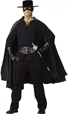 Disfraz hombre Zorro – Talla única, negro: Amazon.es: Salud y ...