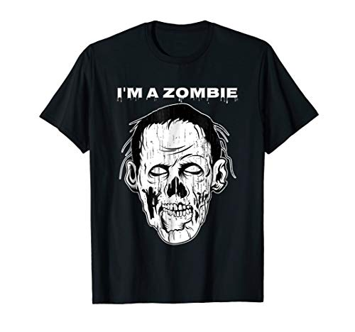 I'm Zombie Tshirt Scary White Face Men Women