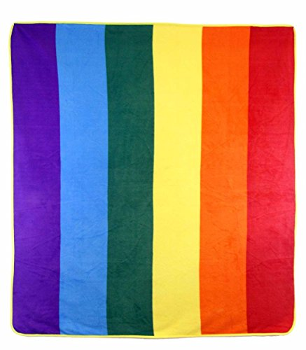 Rainbow Gay Pride LGBTQ Polar Fleece Thermal Plush Blanket Extra Soft 100% Polyester Premium Quality By NovetlySuperStore 100% Polyester Polar Fleece