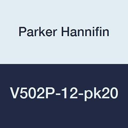 600 psi PTFE Seal 3//4 Female Thread x 3//4 Female Thread Panel Mount Parker Hannifin V502P-12 Brass Industrial Ball Valve