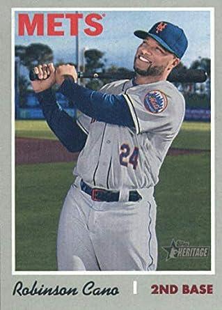 bacf93e9 Amazon.com: 2019 Topps Heritage Baseball #323 Robinson Cano New York Mets  Official MLB Trading Card: Collectibles & Fine Art